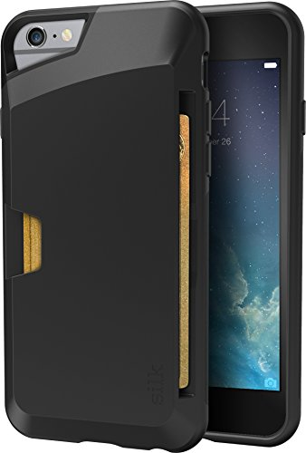 Smartish iPhone 6/6s Wallet Case - Wallet Slayer Vol. 1 [Slim + Protective] Credit Card Holder for Apple iPhone 6s/6 (Silk) - Black Onyx