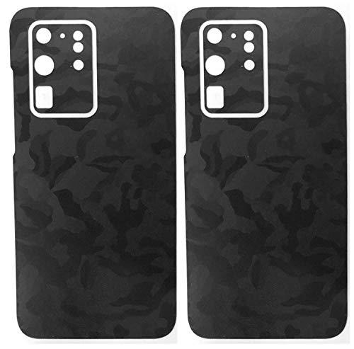 TKCase Galaxy S20 Ultra [2 stuks] skin folie sticker achterkant glas beschermfolie case wrap, shadow black