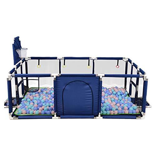 Dreameryoly Corralitos Grande portátil para bebés con Pelota Carpa Parque Cerca con aro de Baloncesto Gran Parque de Actividades con Malla Transpirable Adecuado para bebés y niños pequeños Beneficial