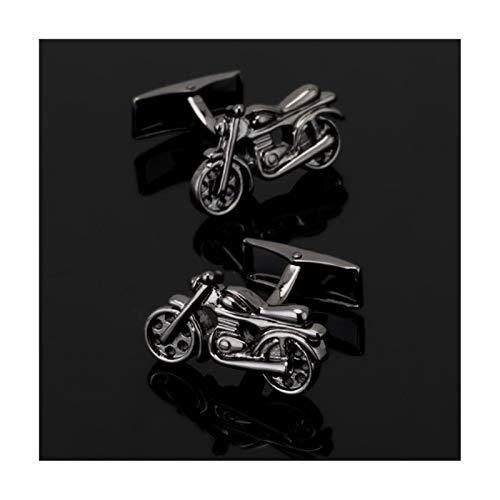 HMYDZ Schwarz Motorrad Mode for Männer Manschettenknöpfe Hemden Manschettenknöpfe Senior Designer-Tasten-Design