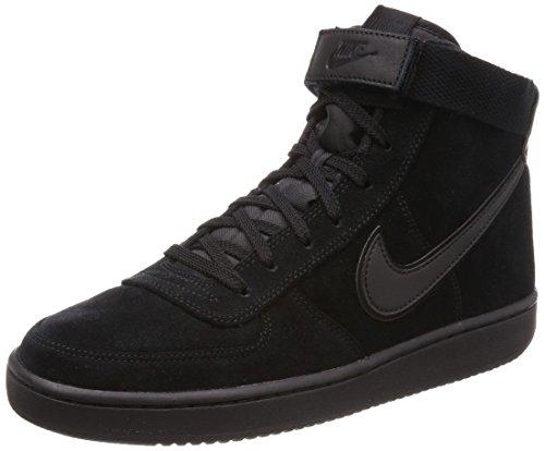 Nike Men's Vandal High Supreme LTR Black / - High-Top Suede Fashion Sneaker 10.5M