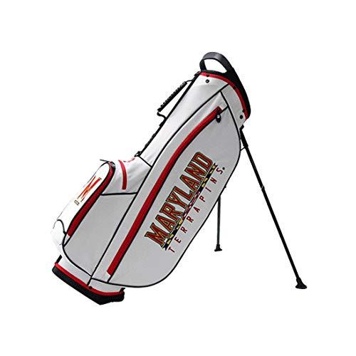 Bridgestone 2019 Collegiate University NCAA 9 In 4 Way Stand Lightweight Golf Bag with Carry Handle, Maryland