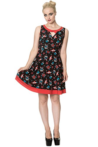 Banned Kleid Regret Nothing Bow Dress 5212 Schwarz M