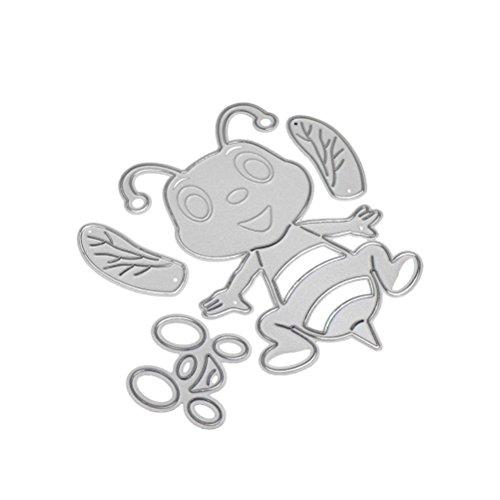 Transer Dies- DIY Scrapbooking tarjeta de papel álbum de repujado Craft Die artesanías herramienta de corte de metal Bee (A:81x77mm)
