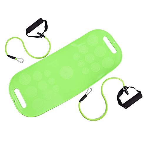 CHEN HAO Balance Board with Resistance Bands-Fitness Board for Adults-The Abs Legs Core Workout Fit Balancing Board Fit Board for Stability Training, Twisting Exercise, Abs Arms Legs Balance