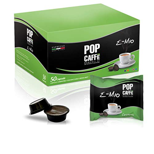 50Kapseln Pop Caffe 'e-mio Mischung 2Cremoso Produkte A Modo Mio...