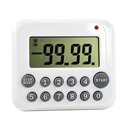AILOVA Elektronischer Timer,Küchentimer Countdown Stoppuhr Timer Magnetische Timer-Uhr zum Kochen Dusche Badezimmer (Grau)