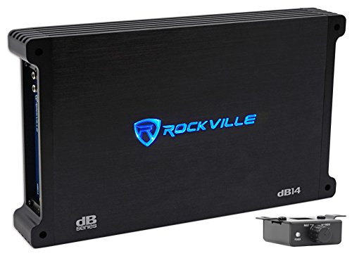 Rockville 4000 Watt/1000w RMS Mono Class D 2 Ohm Amplifier Car Audio Amp (dB14)