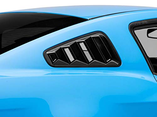 SPEEDFORM QUARTER WINDOW LOUVER IN GLOSS BLACK COMPATIBLE FORD MUSTANG COUPE 2010-2014