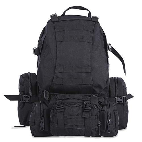 50L 600D Mochila táctica del ejército mochila al aire libre Molle mochila táctica militar mochila deportiva impermeable camping senderismo mochila viaje