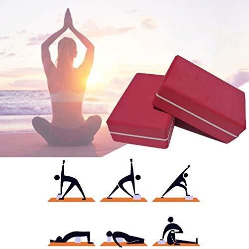 GuangLiu Ladrillos Yoga Bloque Yoga Pilates la Cabeza de Yoga Conjunto Bloque de Yoga de Espuma Yoga Kit de iniciación Bloques de Yoga Soporte para Yoga Red,2pcs