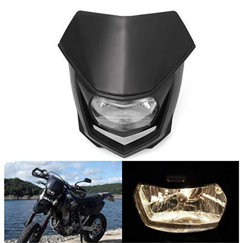 Luces de motocicleta 12 V 8000 lm para cabeza de motocicleta con luz alta y baja para motocicleta Enduro Dirt Bike Faro universal