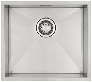 Edelstahl Küchenspüle/Spülbecken MIZZO Quadro 40-40 Flächenbündig/Unterbau - Eckige Edelstahlspüle/spüle 40  40 cm