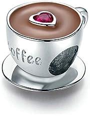 كوب قهوة سحر 925 فضة استرليني القدح سحر الحب سحر سحر ل باندورا سحر سوار