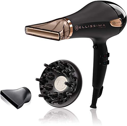 Imetec Bellissima My Pro Ceramic P5 3800 - Secador profesional para cabellos suaves y luminosos, tecnología cerámica, 2300W, concentrador ultraestrecho, difusor, tecnología de iones