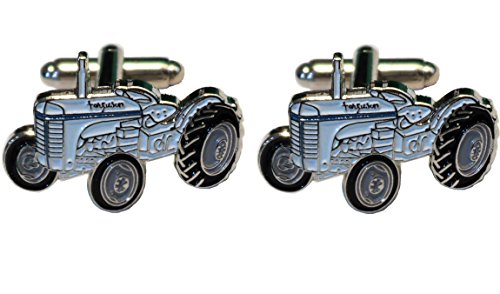B4B Motiv: Ferguson Te20Little Grey Fergie Vintage Farm Traktor Metall Emaille Manschettenknöpfe