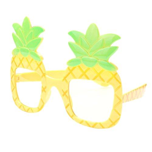 LUOEM Ananas Brillen Hawaiian Luau Fancy Frames Neuheit Gläser Sonnenbrillen Requisiten für Beach Party Dancing Foto Dekorationen