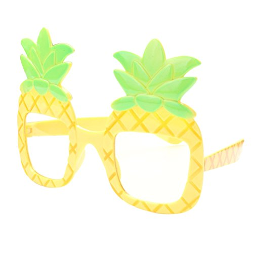 LUOEM Ananas Brillen Hawaiian Luau Fancy Frames Neuheit Gläser Sonnenbrillen Requisiten für Beach Party Dancing Foto Dekorationen
