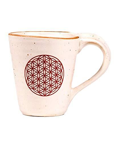 Taza de cerámica para té y café con flor de la vida