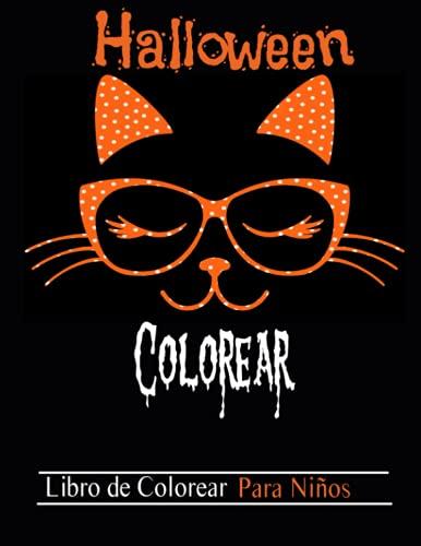 Halloween colorear , libro de colorear para niños / 8.5x11 - 50 páginas: Lindo libro para colorear de Halloween para niños y niñas de 4 a 8 años !
