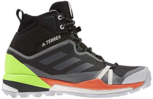 adidas Herren Terrex Skychaser Lt Mid GTX Leichtathletik-Schuh, Kern Schwarz/Kern Weiss/Signal Grün, 42 EU