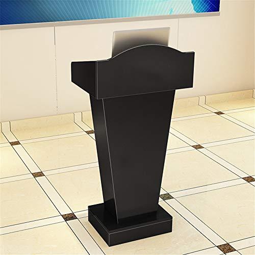yaunli Podio Duradero Atril sólido mostrador de recepción de Madera Atril Conferencia de Formación Presidencia podio de Conferencia portátil (Color : Black, Size : One Size)