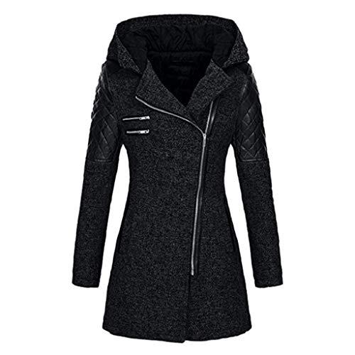 SHOBDW Mantel Damen Winter Große Größen Frauen warme Slim Jacke Dicken Parka Mantel Winter Oberseiten mit Kapuzen Damen Sweat Mantel mit Reißverschluss und Kapuze