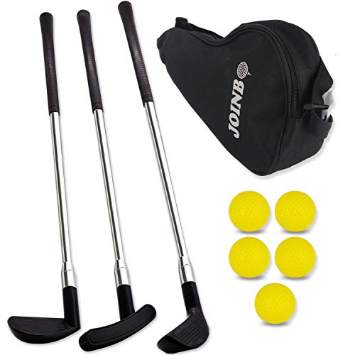JOINBO Toddler Golf Club Set - Kids Golf Ball Game Play Set Sports Toys Gift (3 Durable Golf Clubs 5 Balls 1Golf Bag)