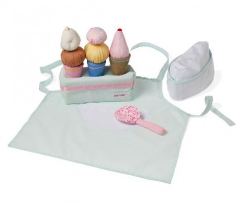 Wonderful Handmade Soft Ice Cream Making / Pretend Play Cooking set. Ideal Lets Pretend Toy For 3 year old Boys and Girls