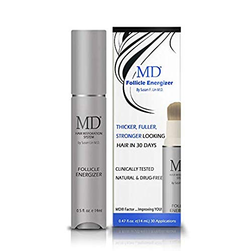 of stimulate for skin hairs MD Factor Natural Hair Growth Serum | Follicle Energizer Serum - Prevents Thinning Hair & Hair Loss By Stimulating Hair Follicles To Produce Thicker, Fuller Hair (30-Day Supply Per Tube)
