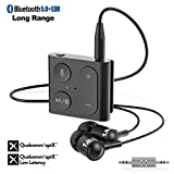 1Mii Bluetooth Receiver, Wireless Audio Adapter with Clip, Bluetooth 5.0 Receiver Built-in Mic