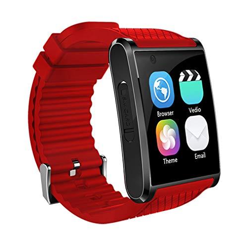 ZY Fitness Tracker, Bluetooth Intelligente Watch, Cardiofrequenzimetro Fitness Tracker Impermeabile Sport 2.0MP Uomini Smartwatch per iOS Android,Rosso