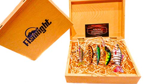 FishRight - Assorted Bass Fishing Lures - Gift Box - 5 Quality Lures - Fishing Lures for Bass