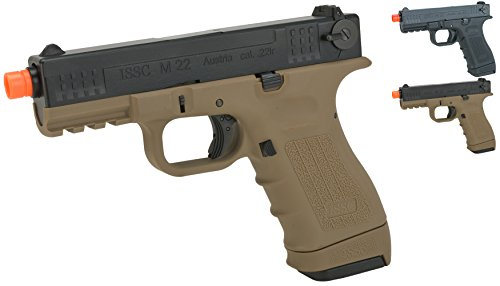 Evike - We-Tech ISSC Licensed M-22 Airsoft GBB Gas Blowback Pistol - Black (CO2 Mag) - (45330)