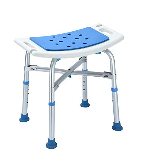Asiento de ducha Taburete para ducha, actualizado, bariátrico, resistente, banco de transferencia para silla de baño con asiento tapizado de Eva, soporta el peso de 300 lb, pies antideslizantes, t