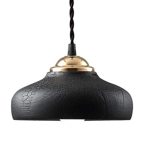 Kronleuchter Kirschholz Kreative Lampen Single Head Einfache Moderne Nordic Villa Nachtbar Restaurant Esstisch Lampe Rollsnownow (Color : Warm Light)
