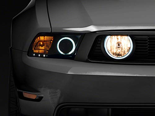 Raxiom Halo Fog Lights in Smoked Aggressive Styling Fits Ford Mustang GT 2005-2012