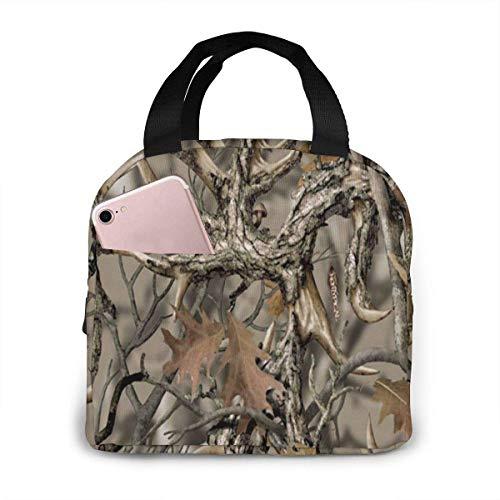 Harla Lunch Bag Lunchbox Picknicktasche Lunch Bag Realtree Camo für Frauen Mädchen Kinder Isolierte Picknickbeutel Thermo Cooler Tote Cute