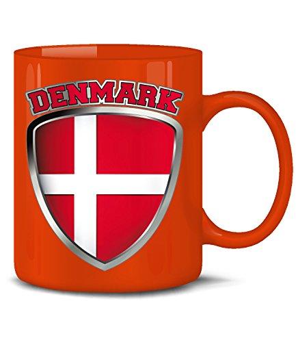 Golebros Dänemark Denmark Danmark Fan Artikel 4677 Fuss Ball Europa World Cup EM 2020 WM 2022 Kaffee Tasse Becher Geschenk Ideen Fahne Flagge Rot