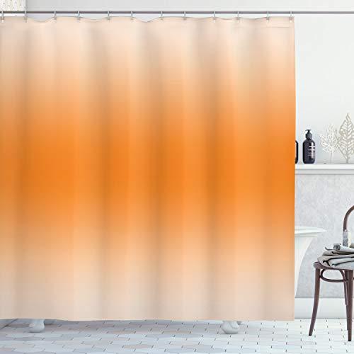 OMBRE Duschvorhang von ambesonne, desert Sunny Hot Summer inspiriert Design Zimmerdekoration Digital Modern Art Print, Stoff Badezimmer Decor Set mit Haken, 177,8cm, orange