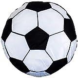 Gefüllt Schwarz Weiß Fußball 16' - 40CM Rundes Kissen
