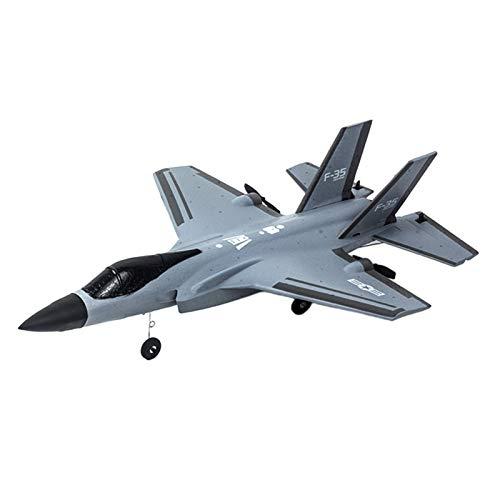 sharprepublic RC avión para Adultos y niños 4 Canales de Control Remoto avión de Combate Listo para Volar de Alta Velocidad fácil de Volar avión de Combate RC Kit - Gris