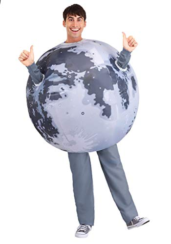Inflatable Moon Costume Adult Inflatable Costume Mens Womens Moon Halloween Suit Standard