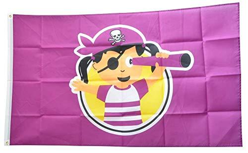 Flaggenfritze® Flagge/Fahne Pirat Mädchen - 90 x 150 cm