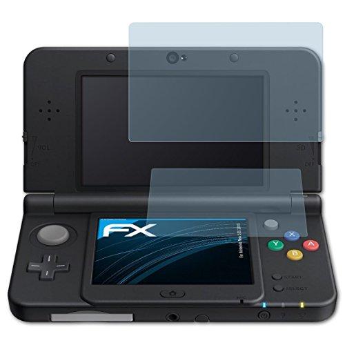 atFoliX Schutzfolie kompatibel mit Nintendo New 3DS 2015 Folie, ultraklare FX Displayschutzfolie (3er Set)