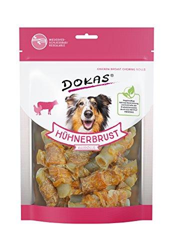 DOKAS Getreidefreier Premium Kausnack mit Hühnerbrust für Hunde – Ideal für zwischendurch