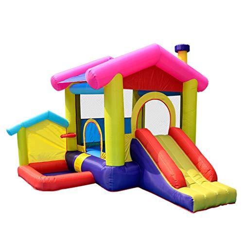 Huis speelhuisje for kinderen indoor bouncy huis for kinderen met glijbaan kleine kinderen pretpark geschikt for 3-8 personen (Color : Blue, Size : 285 * 320 * 243cm)