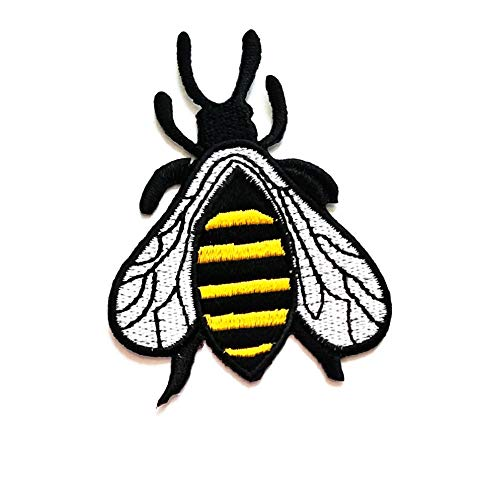 Best Prices! Nipitshop Patches Fashion Pretty Yellow Bee Fly Animal Beautiful Cartoon Kids Patch Emb...