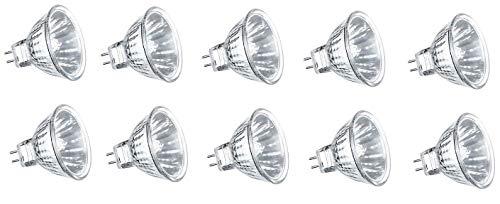 Preisvergleich Produktbild 10 x Halogen Spiegellampe Kaltlicht Reflektor Strahler MR11 G4 10W 10 Watt 12V