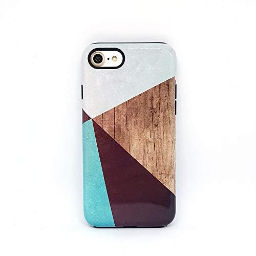 Geometrico Legno cover case custodia per iPhone 5, 5s, SE 2016, 6, 6s, 7, 7 plus, 8, 8 plus, X, XS, 11, per Galaxy S6, S7, S8